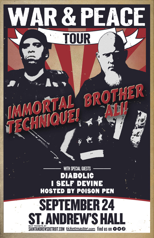 Immortal Technique & Brother Ali - War & Peace Tour